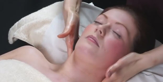 relaxing aromatherapy massage demonstration